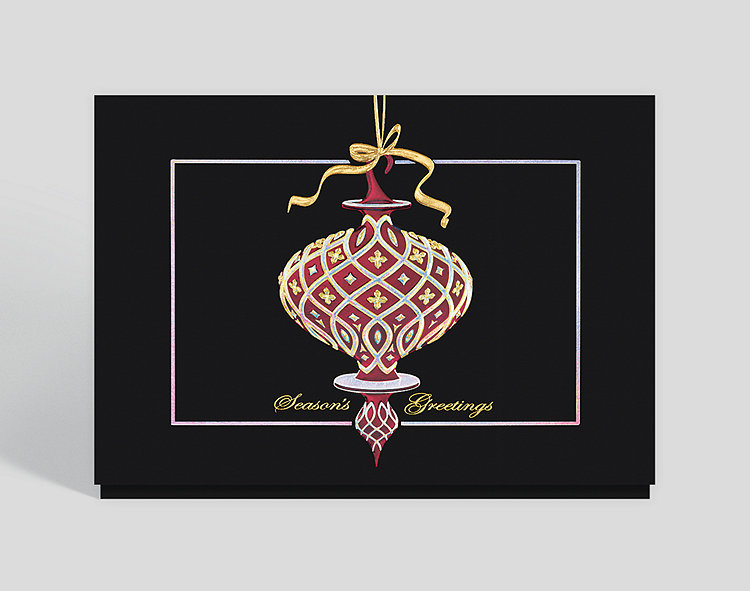 Ornamental Greeting Holiday Card - Business Christmas Cards