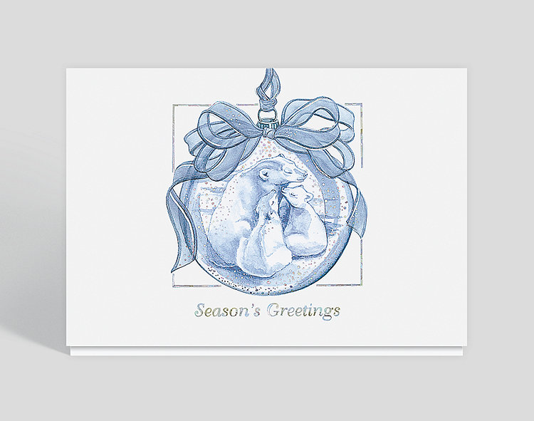 Winter Peace Season Greeting Card - Business Christmas Cards