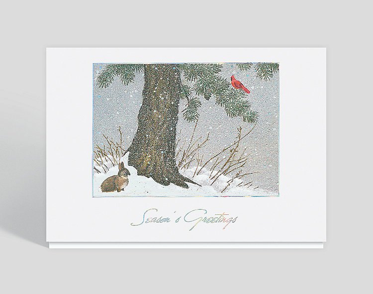 Peaceful Forest Seasons Greeting Card - Business Christmas Cards