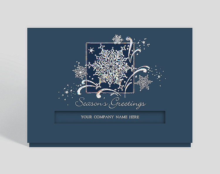 Snowflake Dazzle Die-cut Greeting Card - Business Christmas Cards