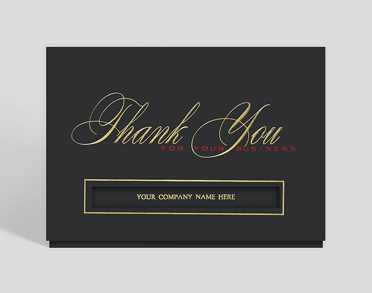 Business thank you card 300201 business christmas cards business thank you card click to view larger colourmoves