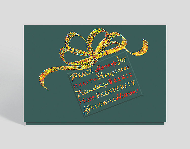 Holiday Wishes Greeting Card - Business Christmas Cards