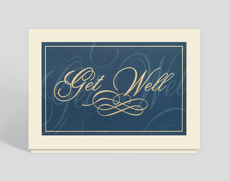 Classically Elegant Get Well Card