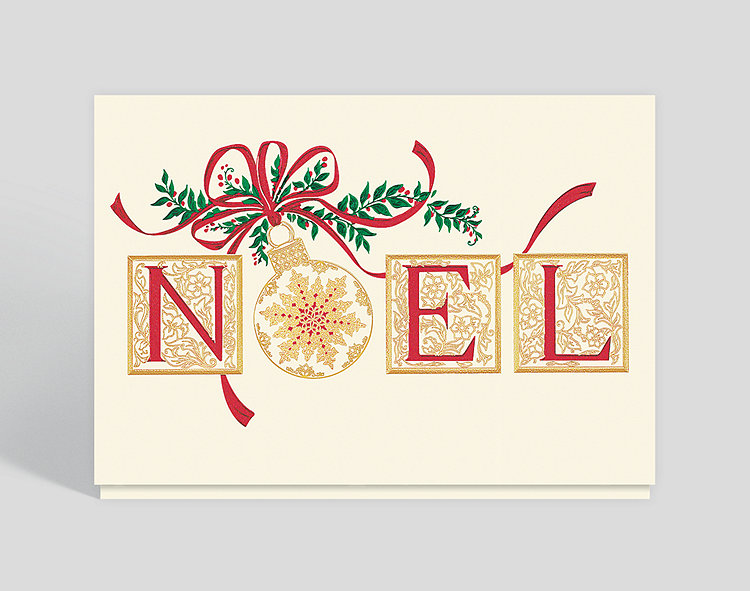 elegant noel christmas card click to view larger - Elegant Christmas Cards