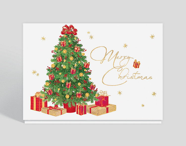 Merry Christmas Card.Merry Christmas Trimmings Card 300293 Business Christmas Cards