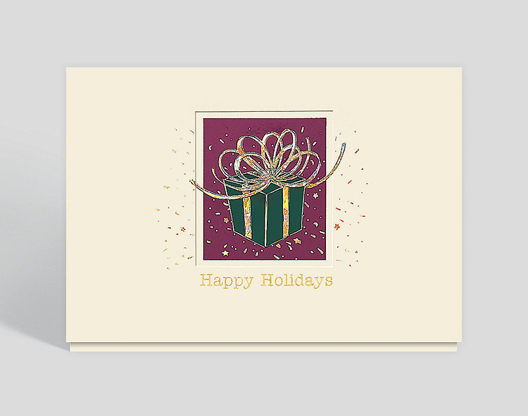 Happy Holidays Greeting Card - Business Christmas Cards