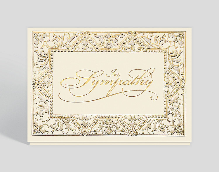 Elegant sympathy card 300313 business christmas cards elegant sympathy card click to view larger altavistaventures Choice Image