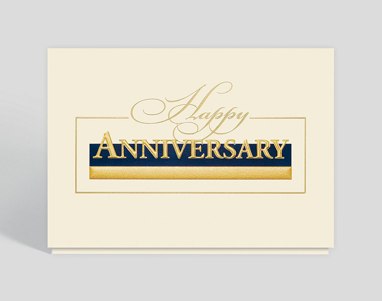 Stately Anniversary Greetings Card