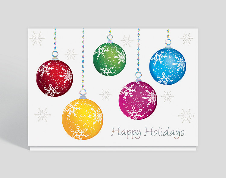 Happy Holiday Ornaments Christmas Card, 300324 - Business Christmas ...