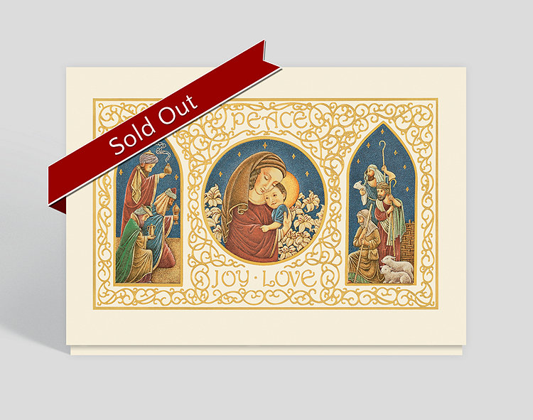 peace joy love christmas card 300329  the gallery collection