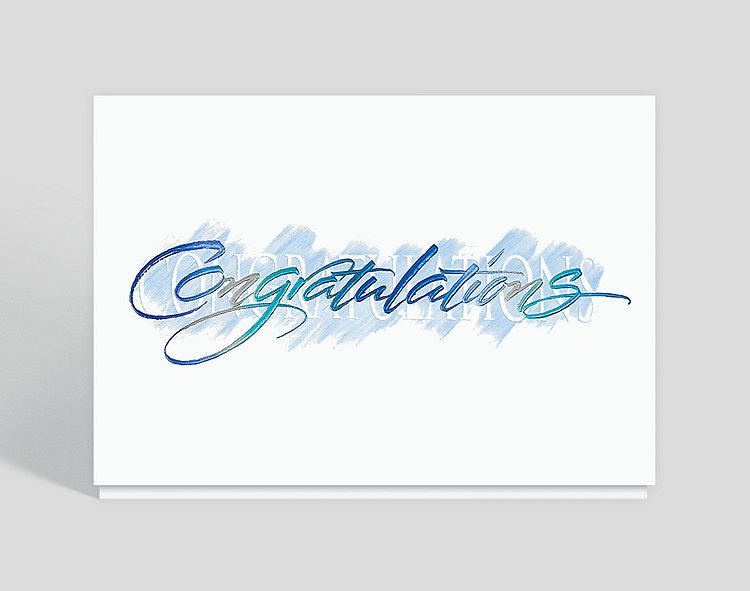 Contemporary Congratulations Card