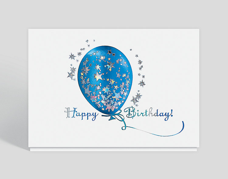 Birthday Starburst Card - Business Birthday Cards