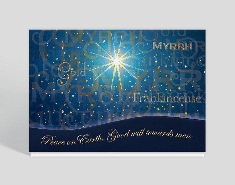 star of wonder christmas card click to view larger - Business Christmas Cards