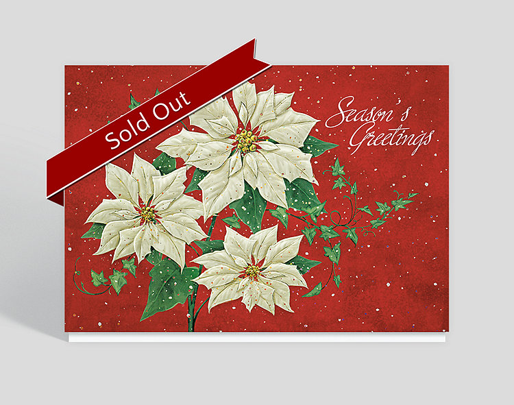 Poinsettia Sparkle Card
