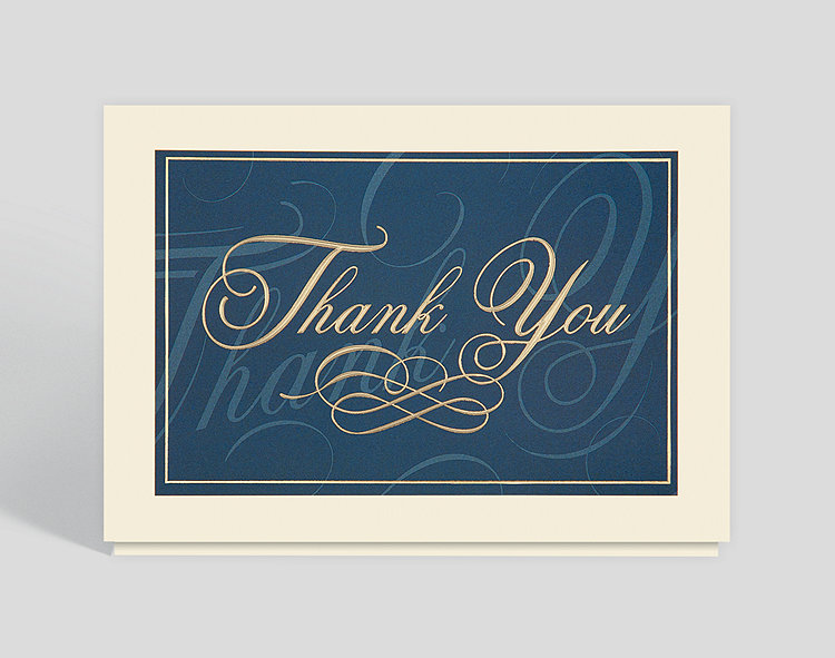 Classically elegant thank you card 300427 business christmas cards classically elegant thank you card click to view larger colourmoves