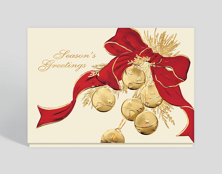 Sleigh bell greetings holiday card 300436 business christmas cards sleigh bell greetings holiday card click to view larger m4hsunfo