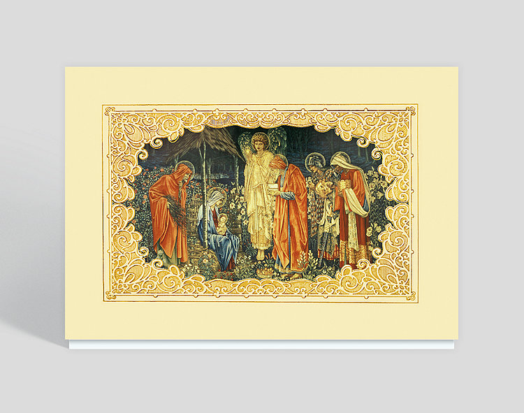 Adoration of the Magi Religious Card - Religious Christmas Cards
