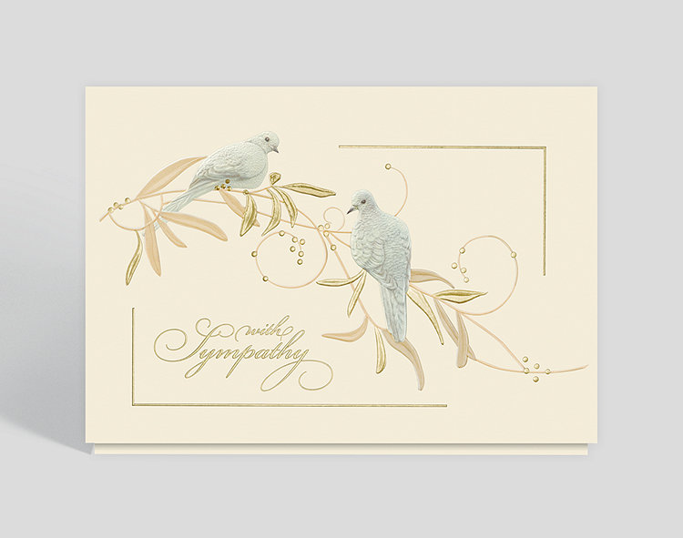 Sympathy doves greeting card 300475 business christmas cards sympathy doves greeting card click to view larger m4hsunfo