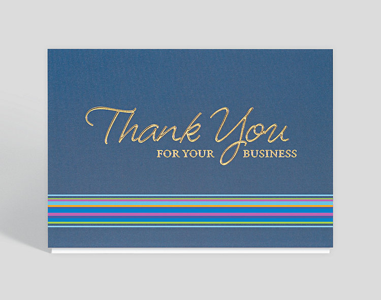 Thank you for your business card 300478 business christmas cards thank you for your business card click to view larger colourmoves