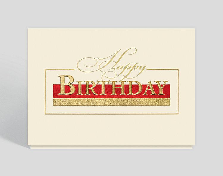 Stately Birthday Greetings Card
