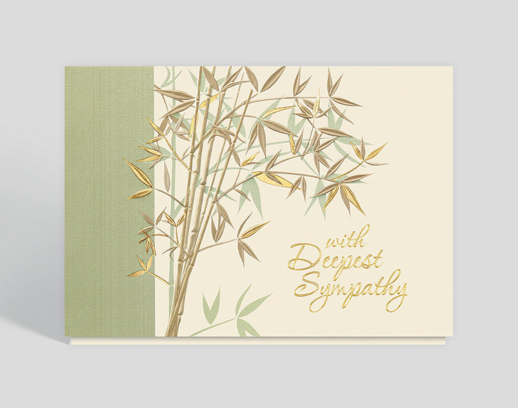 With Deepest Sympathy Garden Card