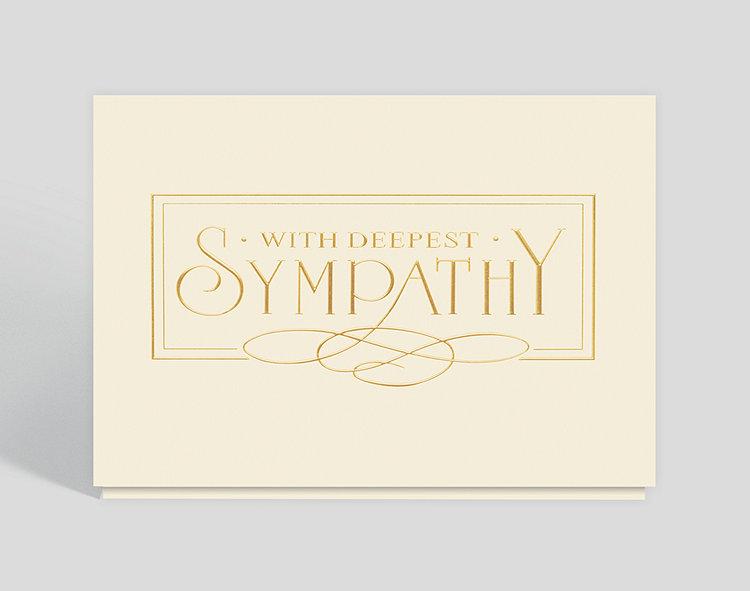 With Deepest Sympathy Elegance Card