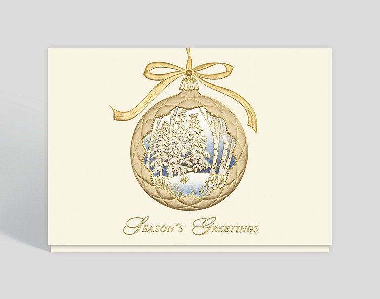 Tranquil Vision Christmas Card - Business Christmas Cards