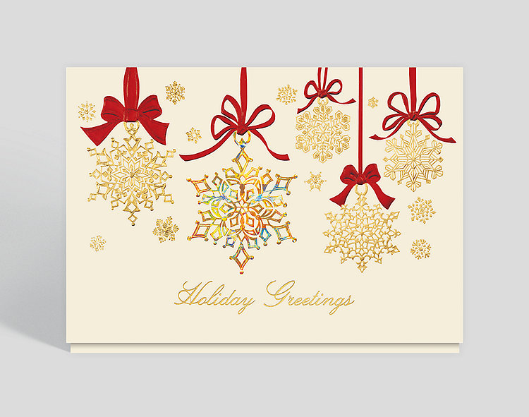 Snowflake Sparkle Card - Company Holiday Cards