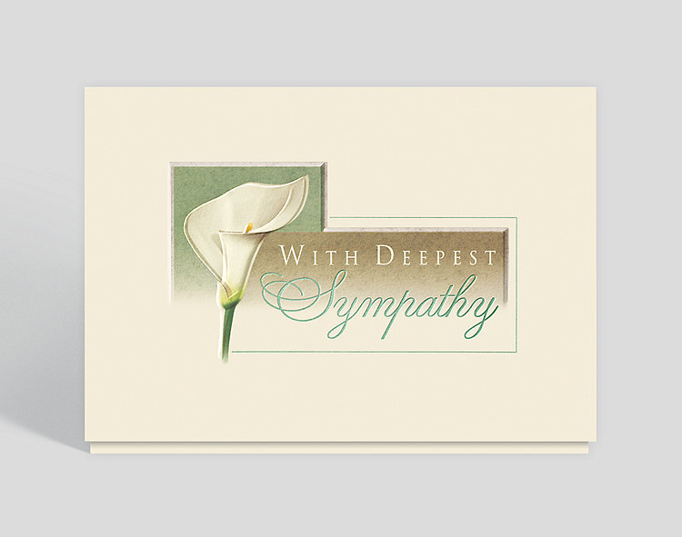 lily sympathy card 300571 business christmas cards