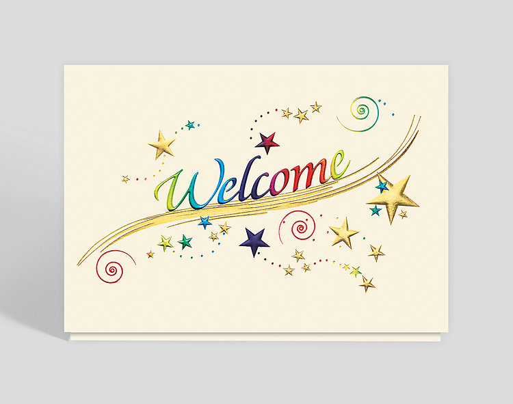 Welcome cards the gallery collection rainbow welcome card m4hsunfo