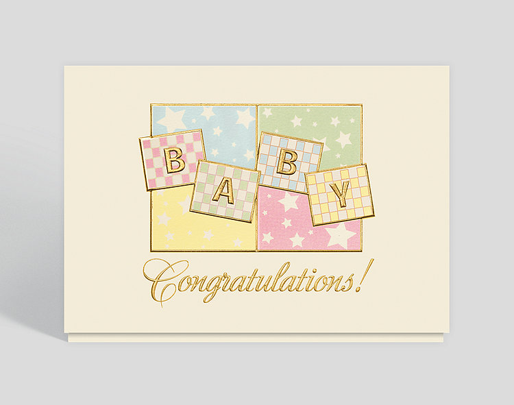 Baby congrats greeting card 300586 business christmas cards baby congrats greeting card click to view larger front open m4hsunfo