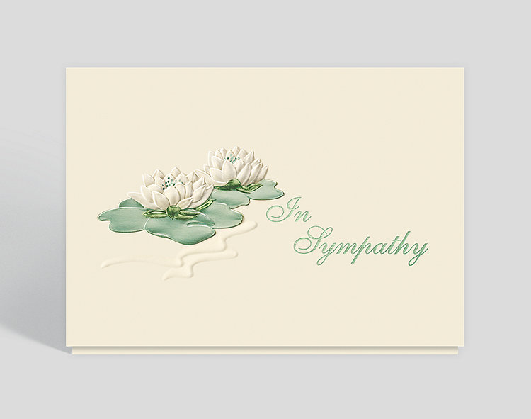 Sympathy water lilies greeting card 300587 business christmas cards sympathy water lilies greeting card click to view larger m4hsunfo