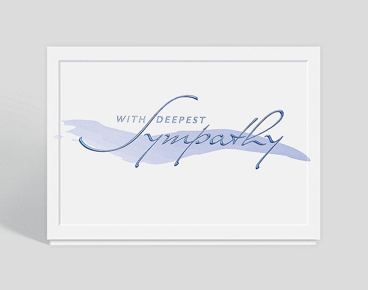 Brushstroke Sympathy Greeting Card