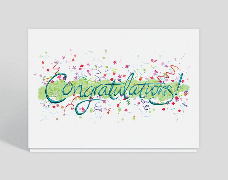 Congratulations Celebration Card, 300607 - Business ...
