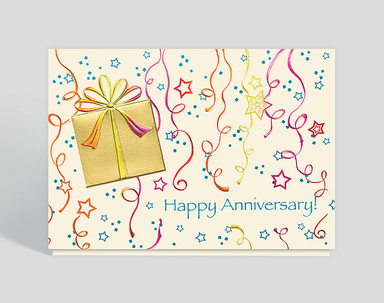 Stars and Streamers Anniversary Card