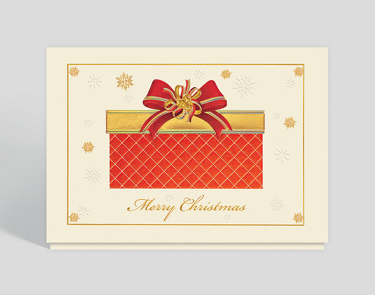 Quilted Wrapping Christmas Card - Greeting Cards