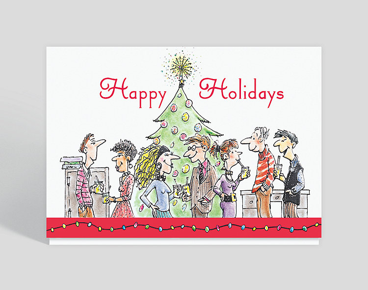 Holiday Party Greeting Card - Company Christmas Cards