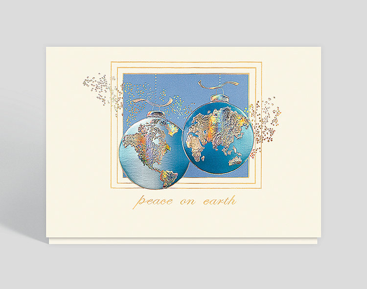Worldwide Wishes Peaceful Holiday Card - Business Christmas Cards