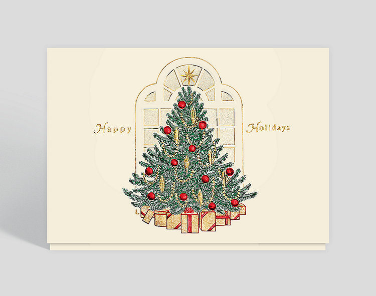 Elegant Holiday Christmas Card - Business Christmas Cards