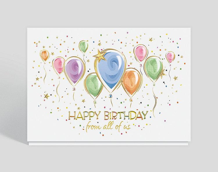 Balloon Party Birthday Card