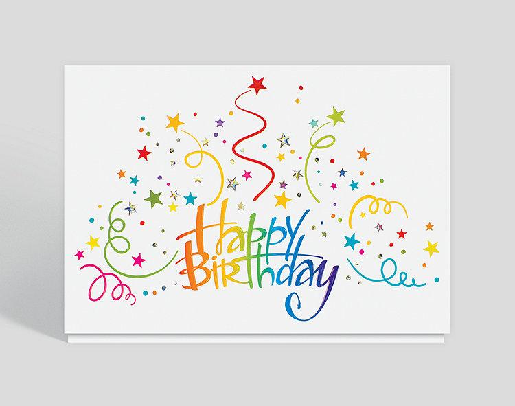 Birthday Burst Greeting Card