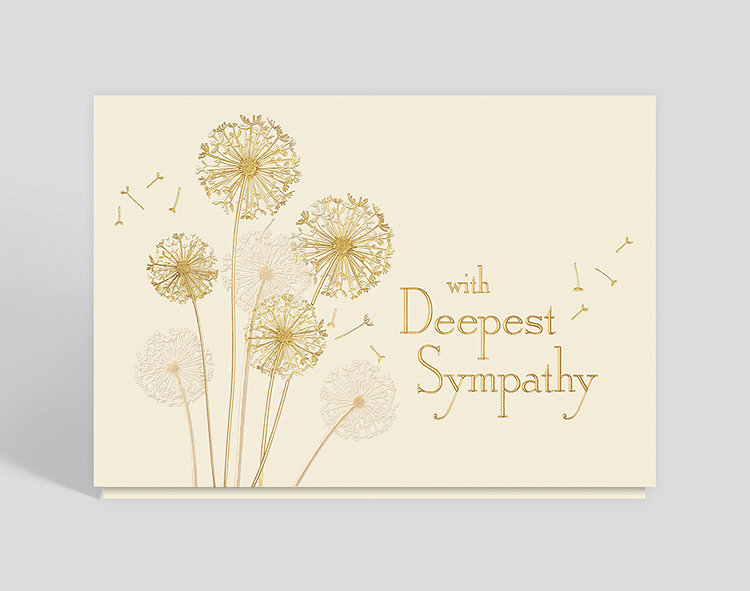 dandelion sympathy card click to view larger - Sympathy Cards