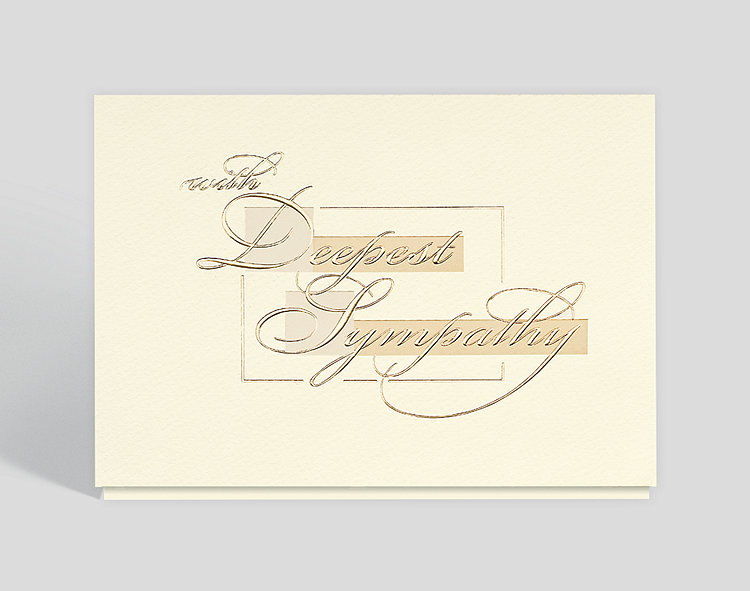 Golden sympathy card 300726 business christmas cards golden sympathy card click to view larger colourmoves