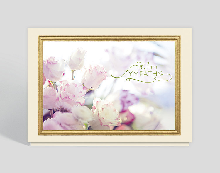 Sympathy arrangement greeting card 300862 business christmas cards sympathy arrangement greeting card click to view larger m4hsunfo