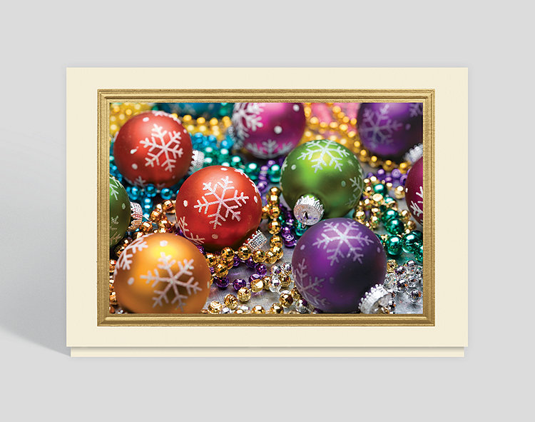 brilliant ornaments christmas card click to view larger - Christmas Card Ornaments