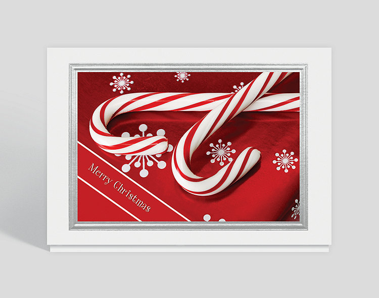 Candy Cane Wishes Christmas Card Click To View Larger