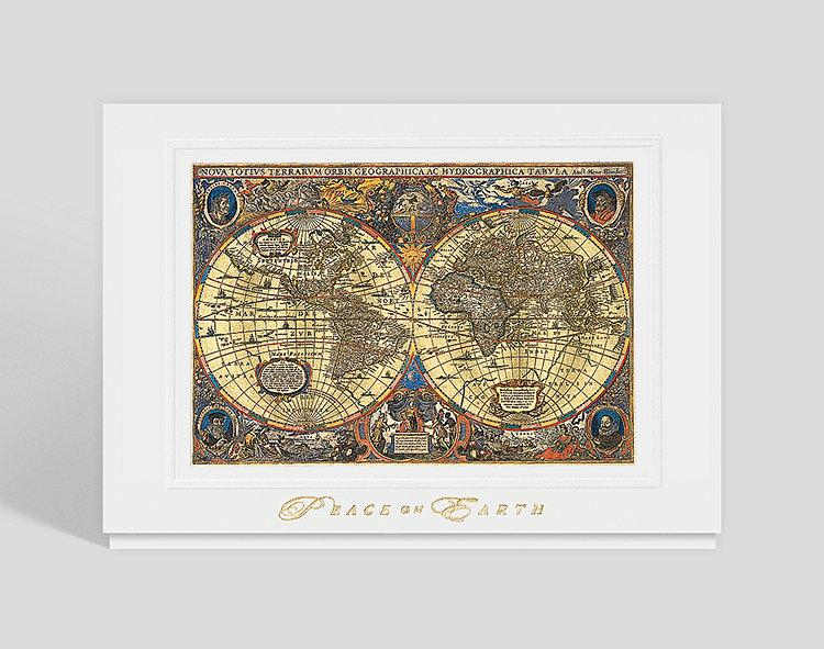 Novus Atlas Holiday Card - Greeting Cards