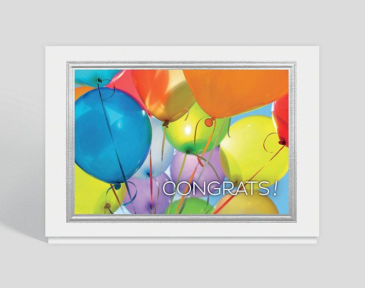 Congrats Balloons Card