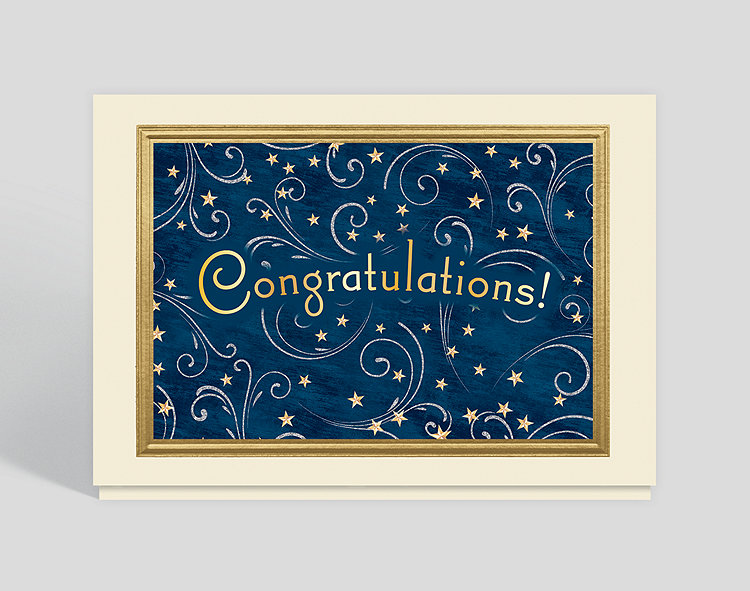 Starlit Congratulations Card