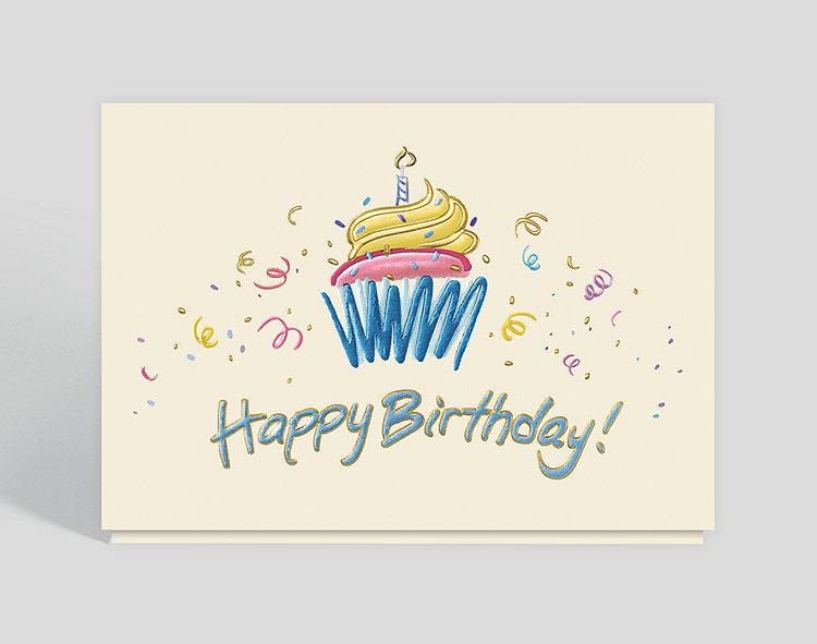 birthday cupcake doodle card 302206  business christmas